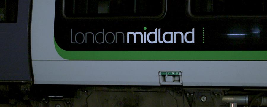 Image of a London Midland traincar.
