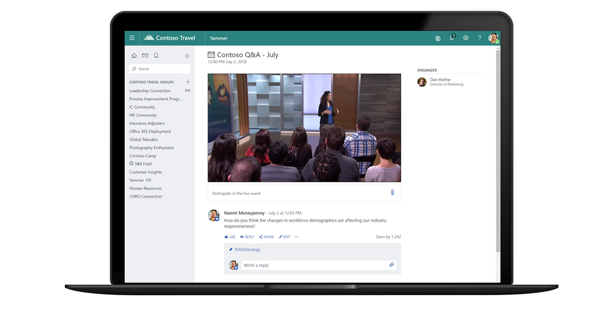 4 steps to engage employees with new live events in microsoft 365