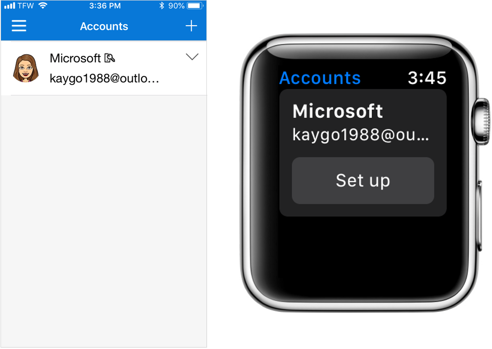 microsoft authenticator companion app for apple watch now in public