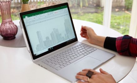Image of Emma Stevens creating a Spreadsheet Skyline in Excel.