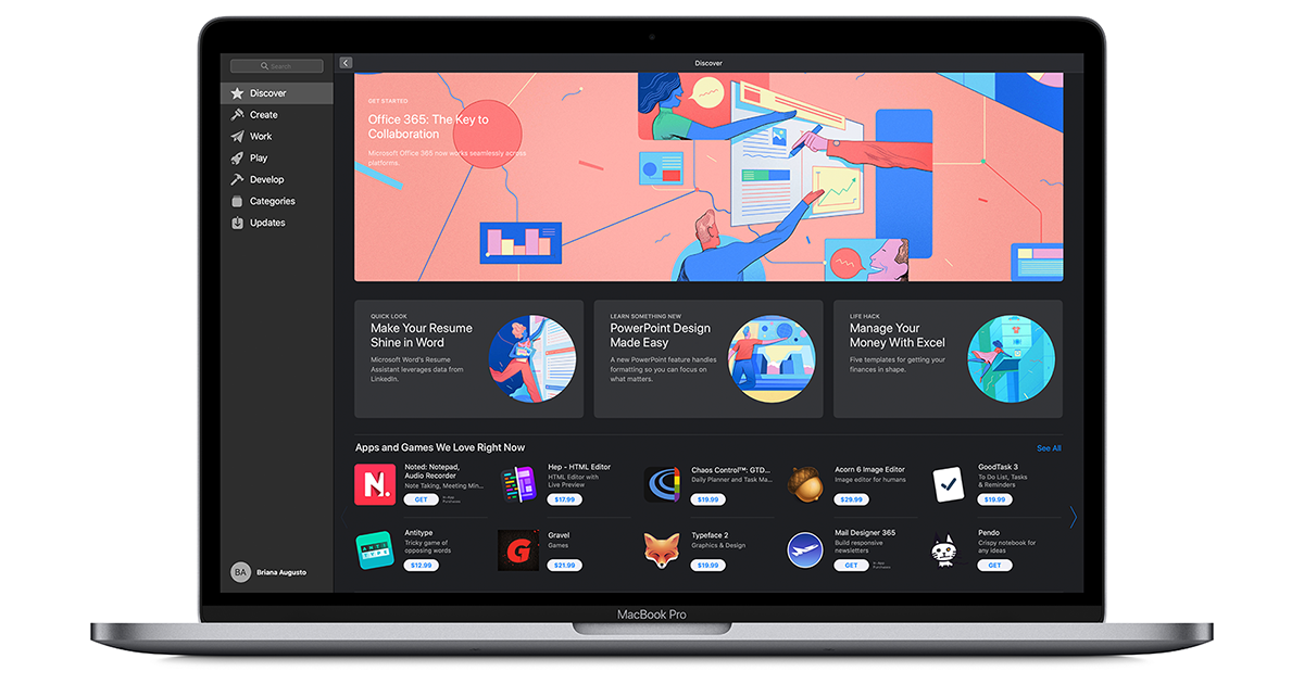 Office 365 for Mac is available on the Mac App Store