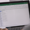Image of an Excel document open on a laptop.