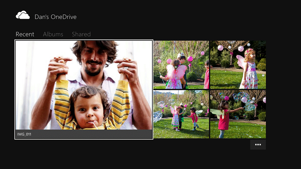 Photos in Xbox OneDrive App