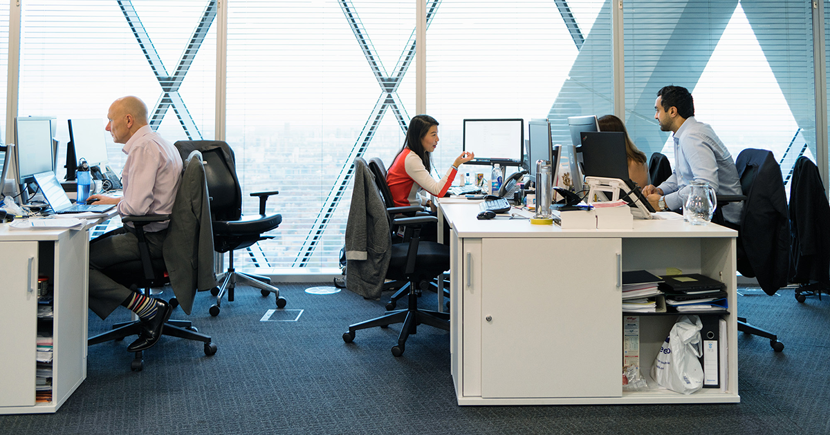 Image of workers in an office.
