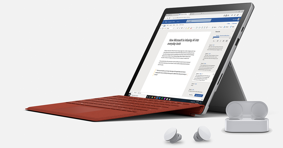 Microsoft 365 makes work and play more intuitive and natural with innovations in voice, digital ink, and touch