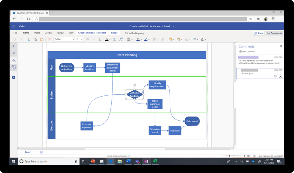 Visio on the web homescreen.