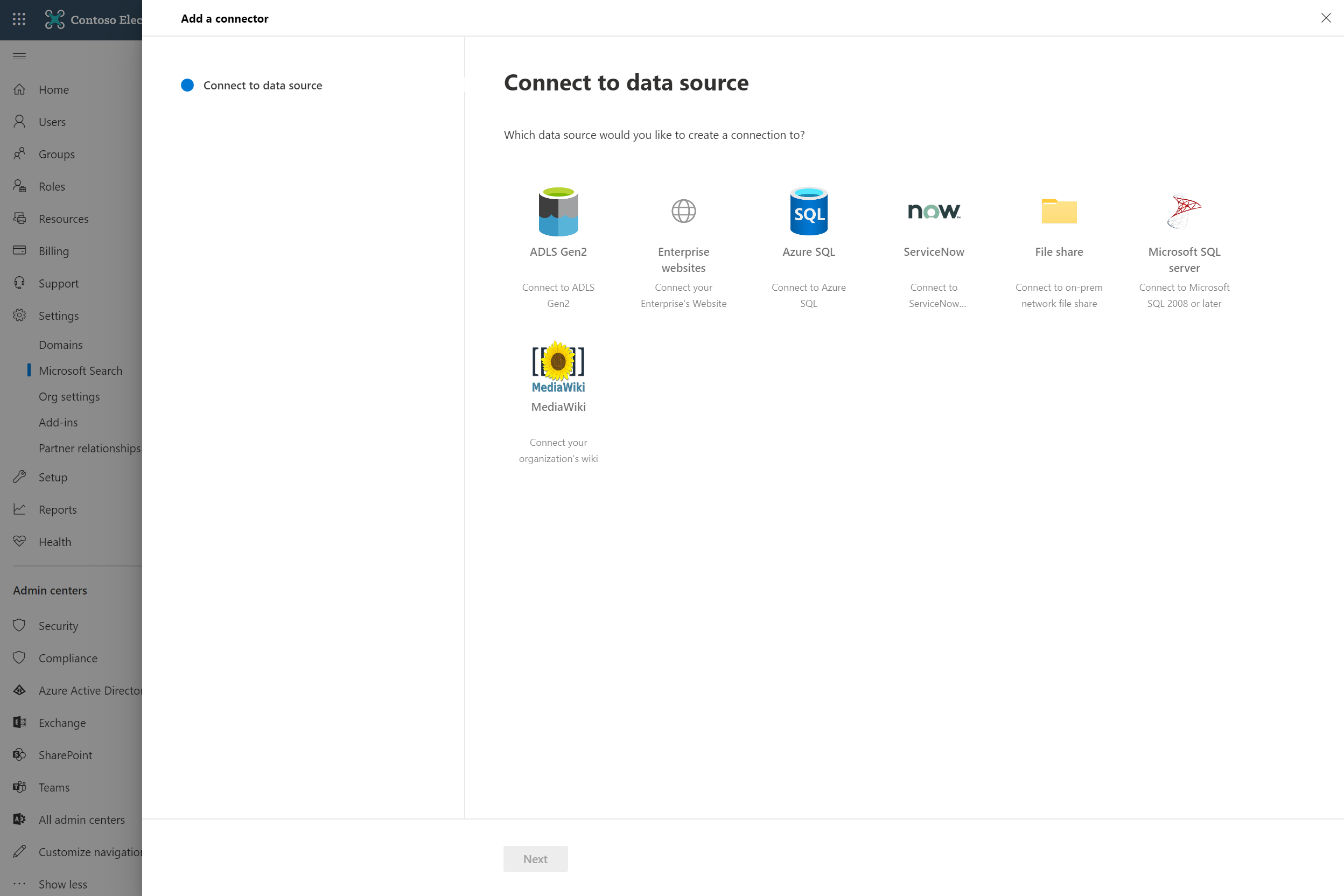 An image showing how Microsoft Search indexes all your Microsoft 365 data.