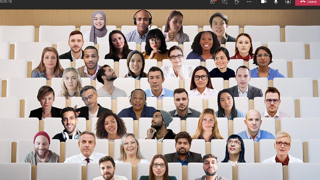 An image of people using Teams.