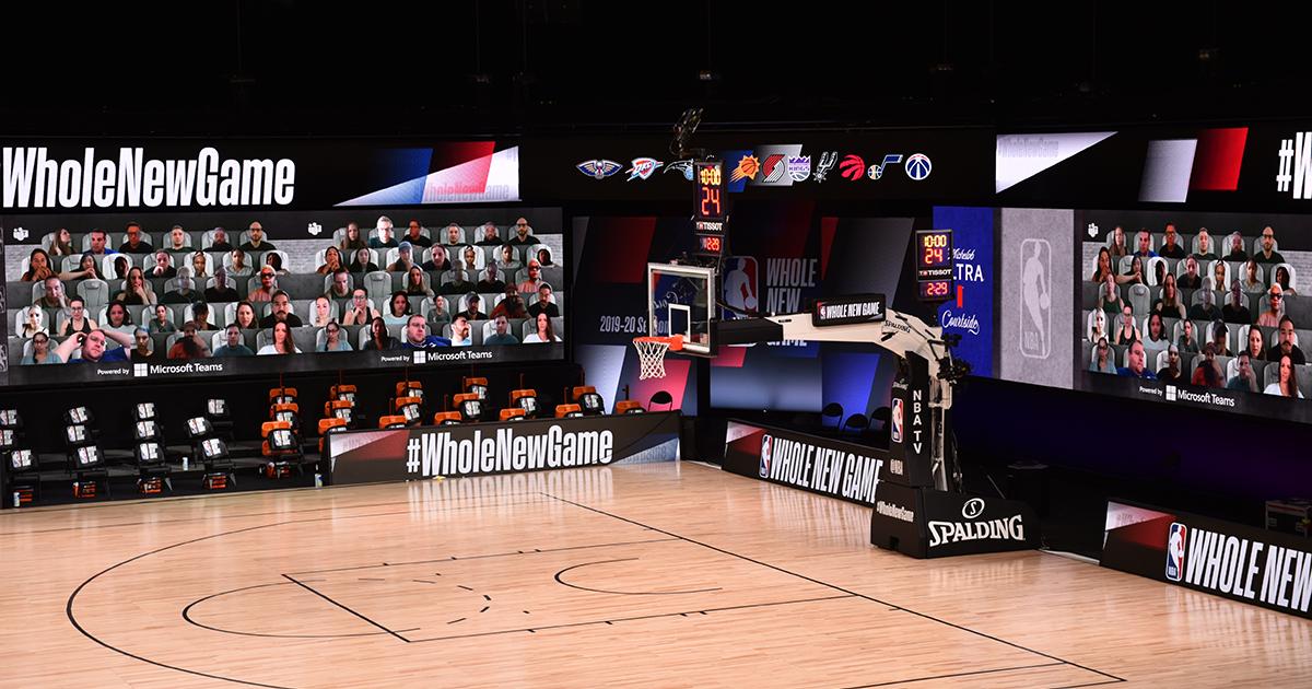 An image of a NBA basketball court.