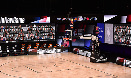 Image for: An image of a NBA basketball court.