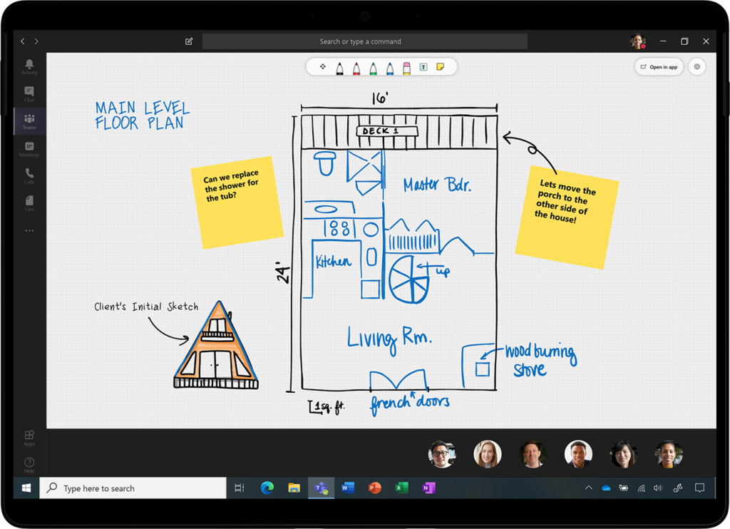 An image of Microsoft Whiteboard updates.