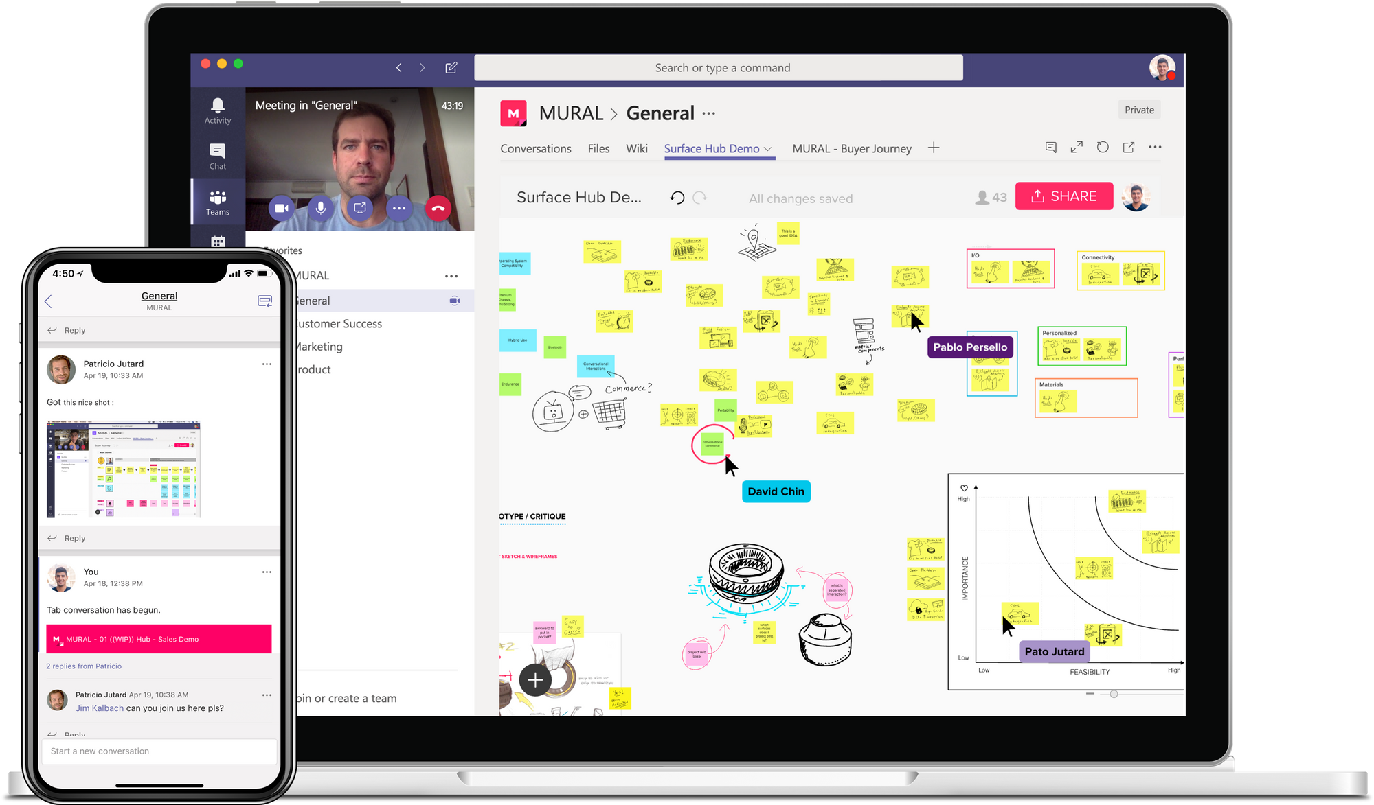 An image showing higher productivity with Microsoft Teams apps designed for remote work.