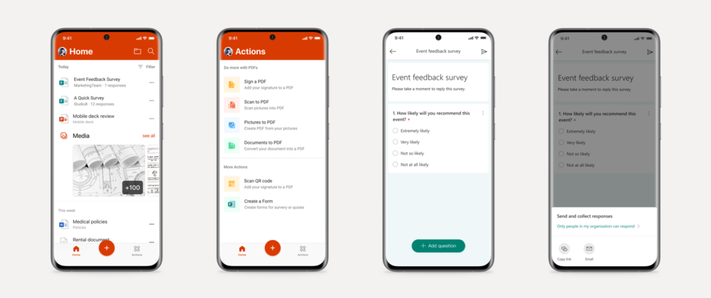 Create Forms in Office Mobile