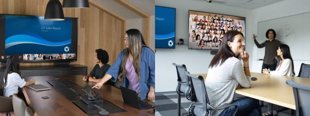 Microsoft Teams Rooms に新しいギャラリー ビューを導入