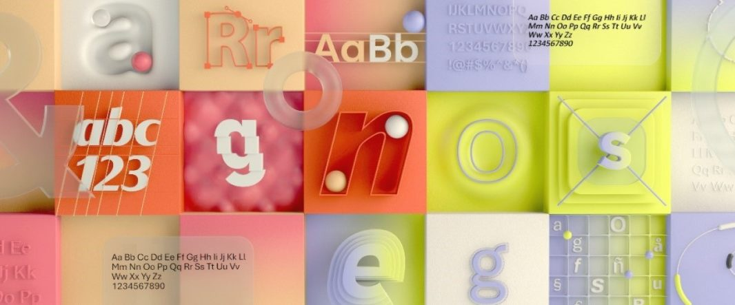 Image showcasing the five new fonts for Microsoft Office