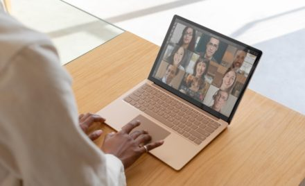 Image for: Contextual image of woman on Sandstone Surface Laptop 3 inside.