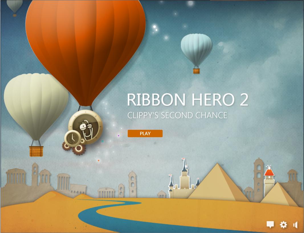 Ribbon Hero 2 main screen