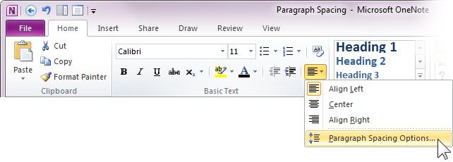 Adjust Paragraph Spacing In Onenote 2010 Microsoft 365 Blog