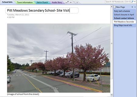 Exterior photo of Pitt Meadows Secondary School