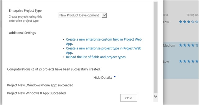 Microsoft Project Online Ideation