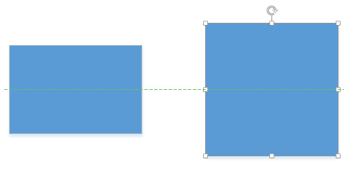 Visio dynamic grid resize to alignment line