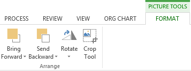 Visio org chart crop mode