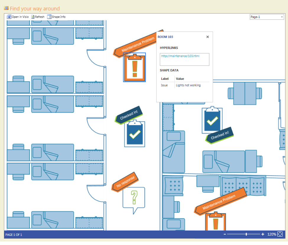 Embedded Visio Services web part
