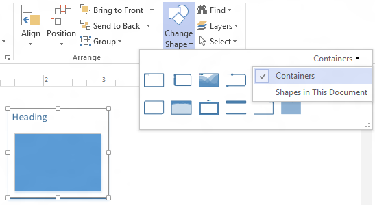 Change Shape for Visio Containers