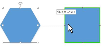 Visio improved dynamic glue