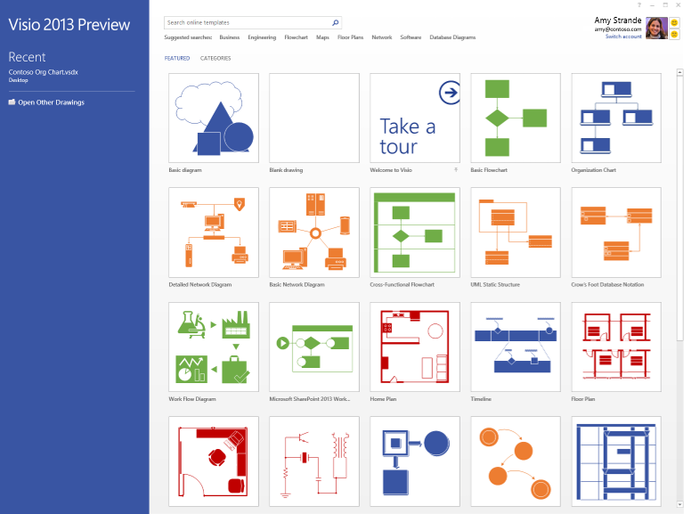 The new visio start experience microsoft 365 blog for Viso templates