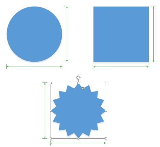 Visio matching shape dimensions dynamic grid