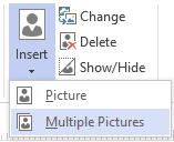 Visio Org Chart insert multiple pictures