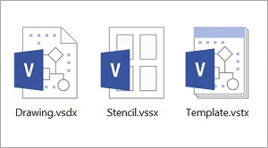 Drawing, Stencil and Template file formats