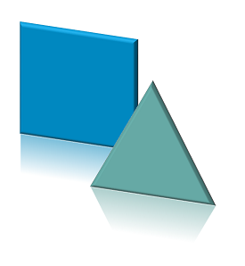 Visio shapes with reflection, bevel and 3D rotation