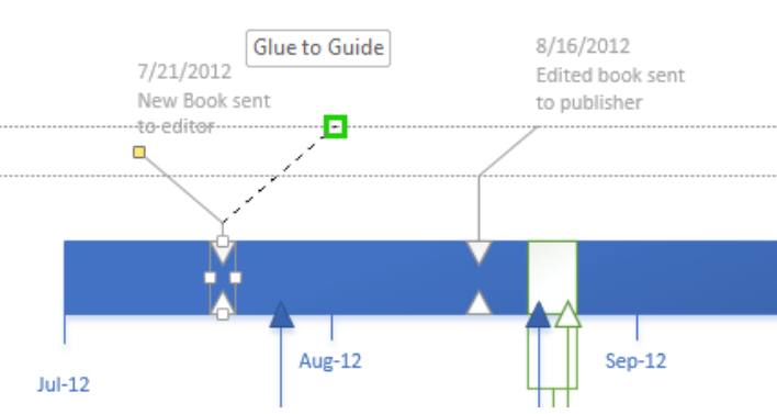 Microsoft visio timeline without dates