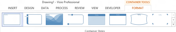 Visio container styles