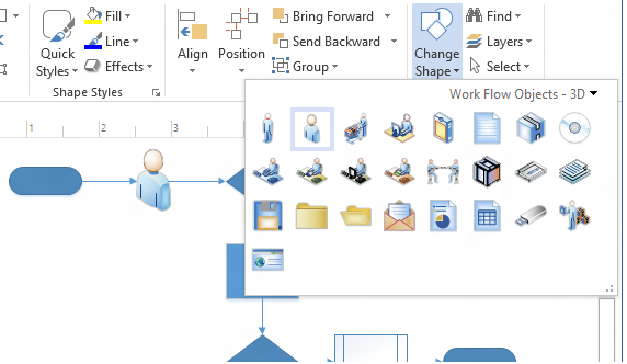 Create professional diagrams quickly with the new visio microsoft change shape ccuart Image collections