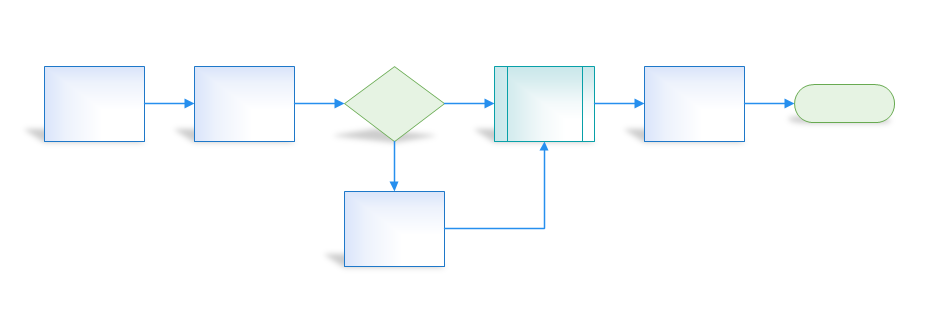 Visio shapes with reflection