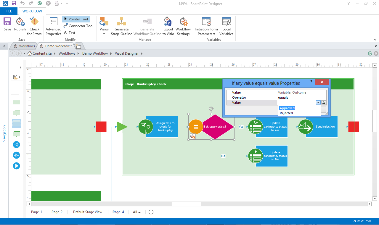 sharepoint 2013 workflows in visio - microsoft 365 blog