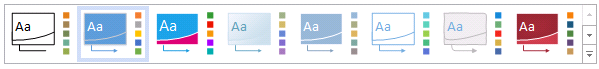 Themes in the new Visio