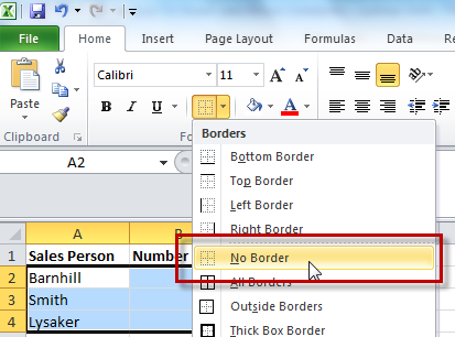 What's the dif? Gridlines vs borders in spreadsheets ...