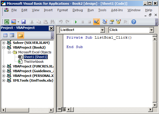 Simplifying data entry with a list box and VBA code