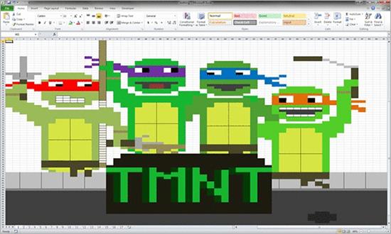 Teenage Mutant Ninja Turtles in Excel