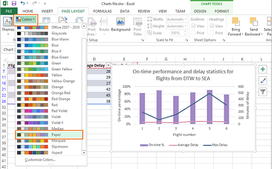 Telling a story with charts in excel 2013 microsoft 365 blog using theme colors ccuart Gallery