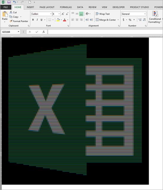 Excel logo pixel art