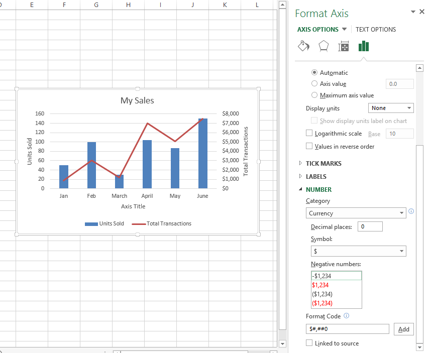 Need to combine two chart types create a combo chart and add a 07 combo chart set number to currency and decimal point ccuart Image collections