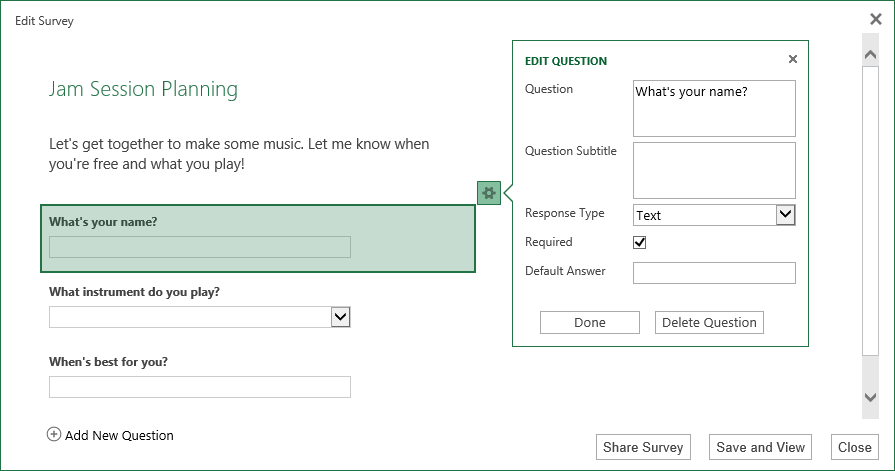 The survey designer is a breeze to work with