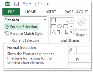 Format and customize excel 2013 charts quickly with the new the second way on a chart select an element right click then select format element where element is the axis series legend title ccuart Images