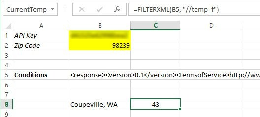 Use Webservice functions to automatically update Excel 2013