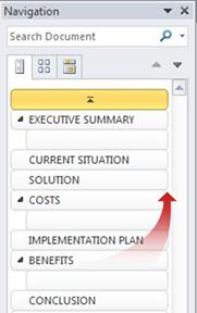 Organizing documents in the Navigation Pane